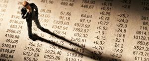 Broker Stands On Stock Price Chart
